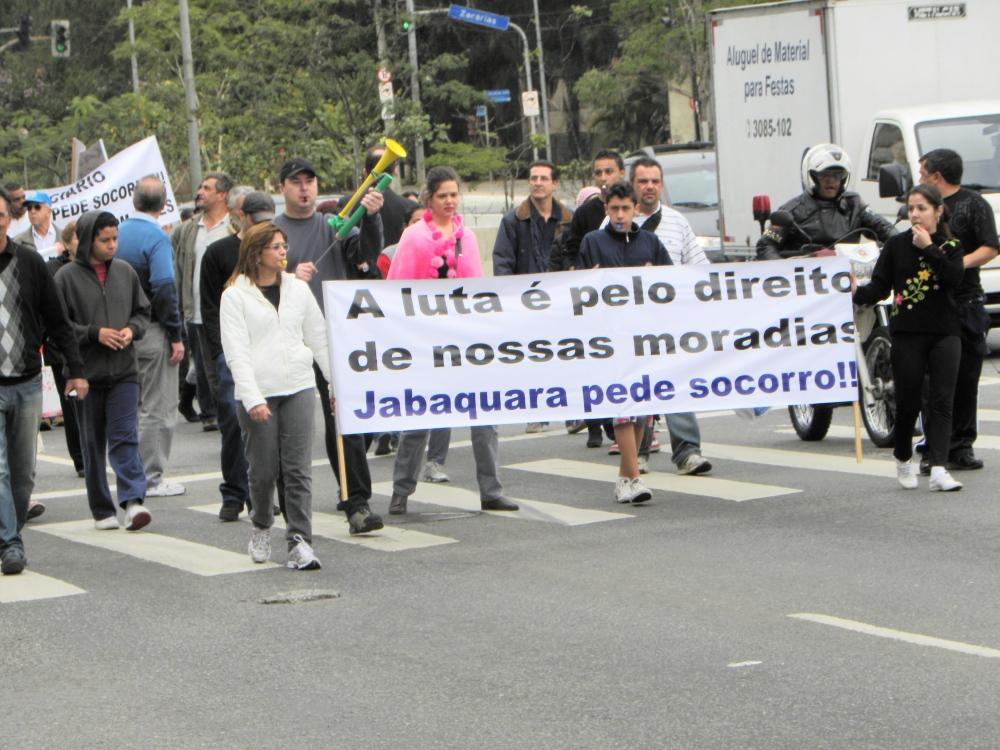 Manifestação contra o Túnel Roberto Marinho na Operação Urbana Água Espraiada (1/6)