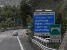 Estrada para Taormina
