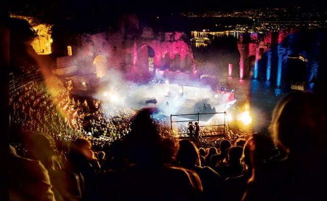 Teatro Grego a noite