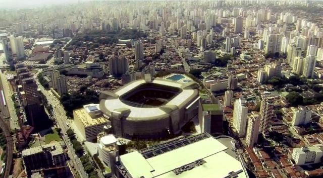 Arena Palmeiras Estacionamento com Heliponto