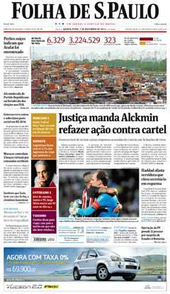 Capa Folha 07 11 2013