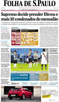 Capa Folha 14 11 2013