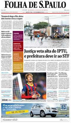 Capa Folha 12 12 2013