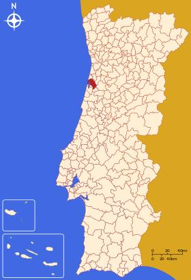 Aveiros mapa