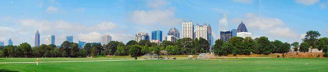 Panorama de Atlanta a partir do Parque Piedmont.