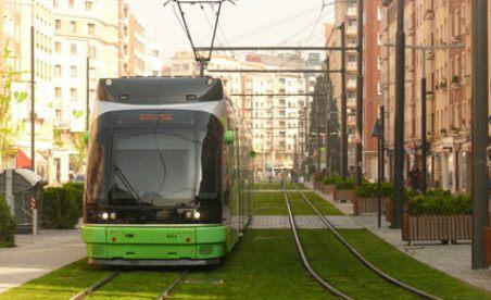 Vitoria-Gasteiz na Espanha Monotrilho