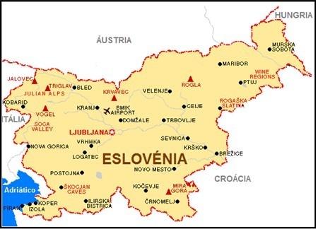 mapa Eslovenea