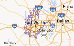 Fort Worth mapa